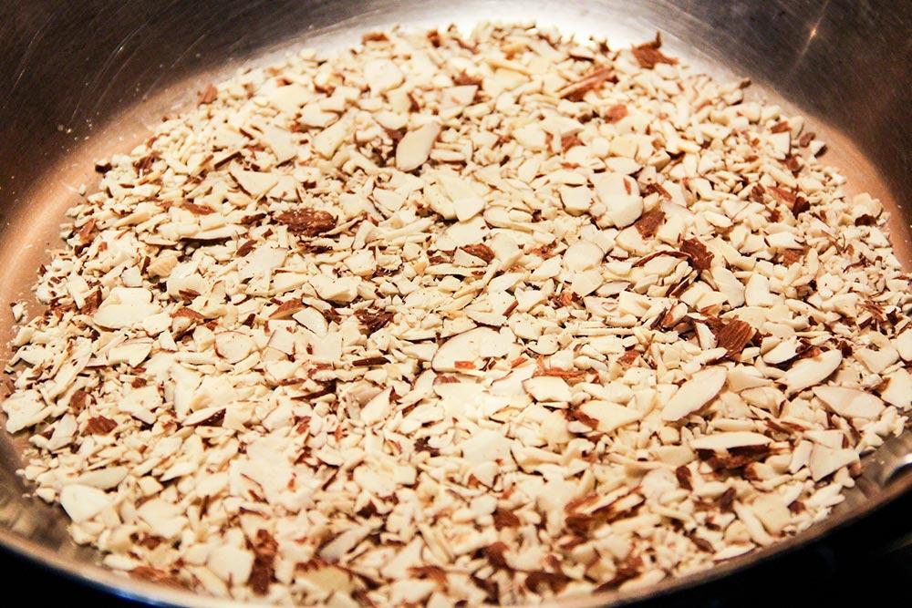 Roasting Almonds in Skillet