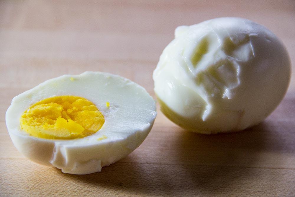 Broken Hard-Boiled Egg
