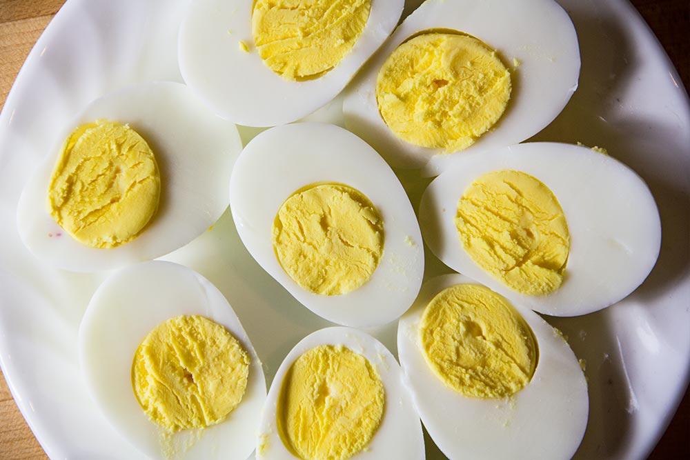 Hard-Boiled Egg Halves