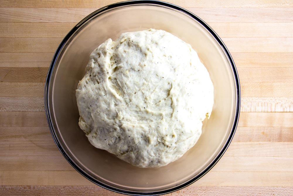 Risen Pizza Dough