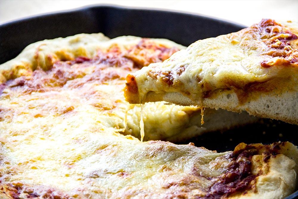 Slice of Deep Dish Pizza