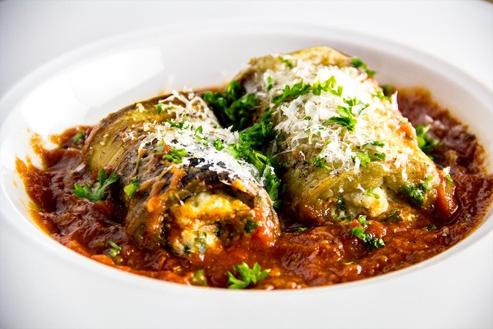 Rolls of Eggplant Involtini