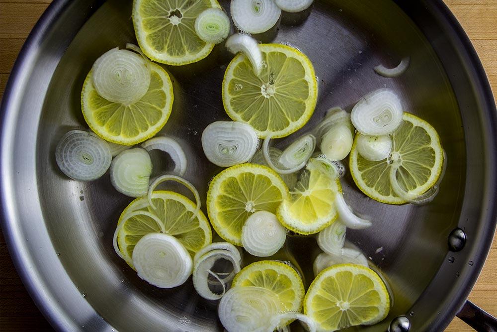 Lemon & Onions in Skillet