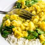 Vegetarian Cauliflower & Spinach Dal Recipe