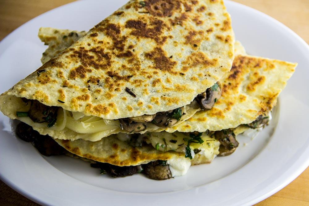 Mushroom & Cheese Tortillas