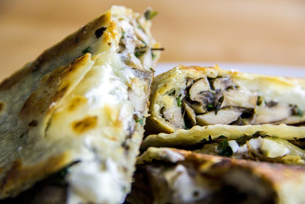 Mushroom & Goat Cheese Quesadilla