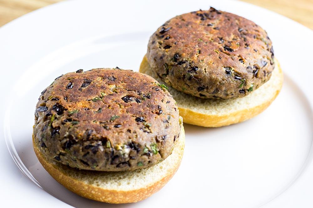 Bean Burgers in a Plate