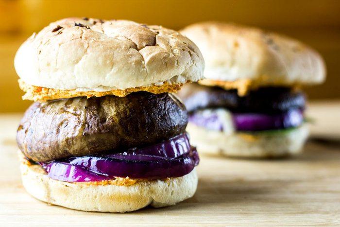 Portobello Mushroom Burger with Sun-Dried Tomato Spread Recipe