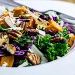 Kale with Sweet Potato & Maple Vinaigrette Salad Recipe