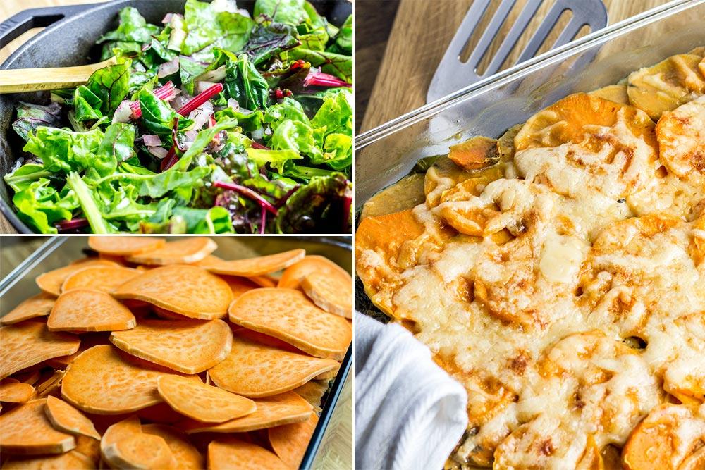 Sweet Potato & Swiss Chard Casserole Recipe