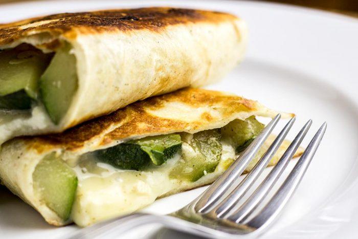 Zucchini, Garlic & Jalapeno Quesadilla Recipe