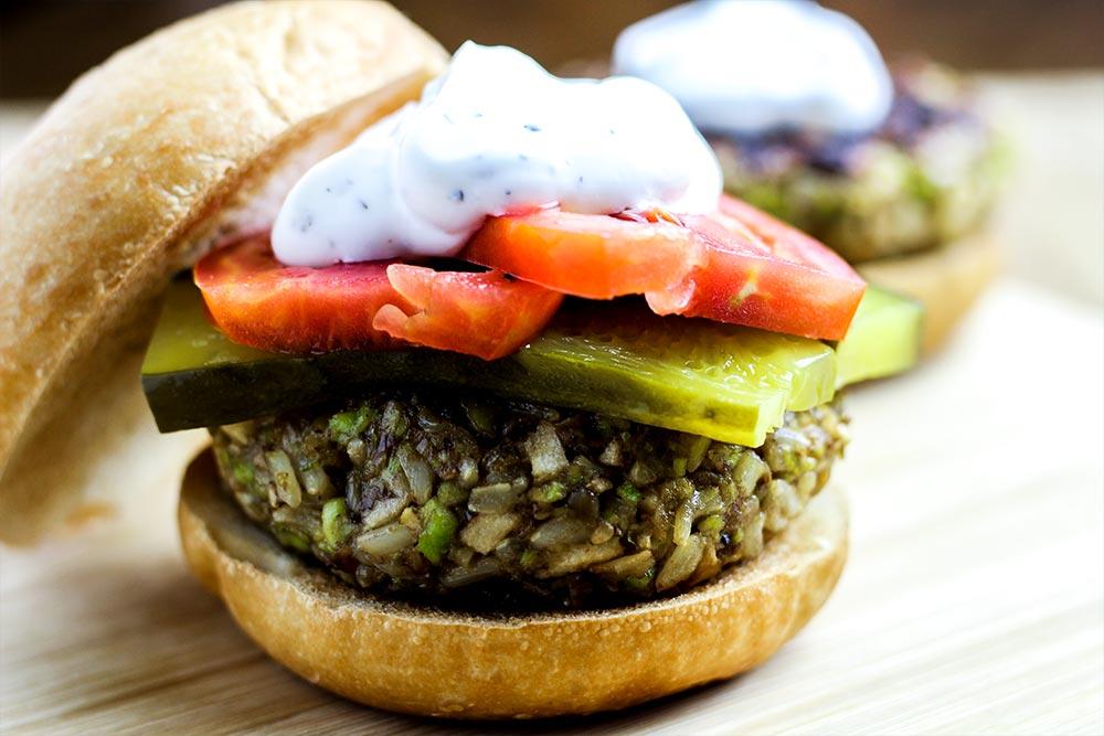 Edamame, Brown Rice & Apple Veggie Burger Recipe