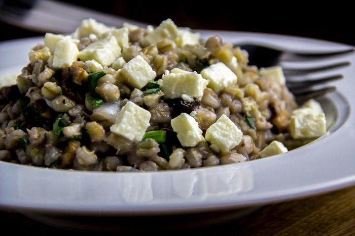 Barley Pilaf with Raisins, Walnuts & Feta Cheese Recipe