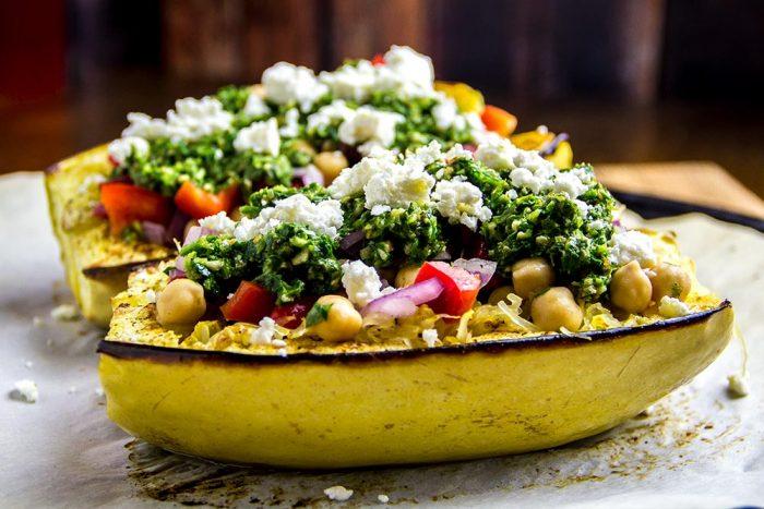 Mediterranean Spaghetti Squash Bowl Recipe by Cookie & Kate