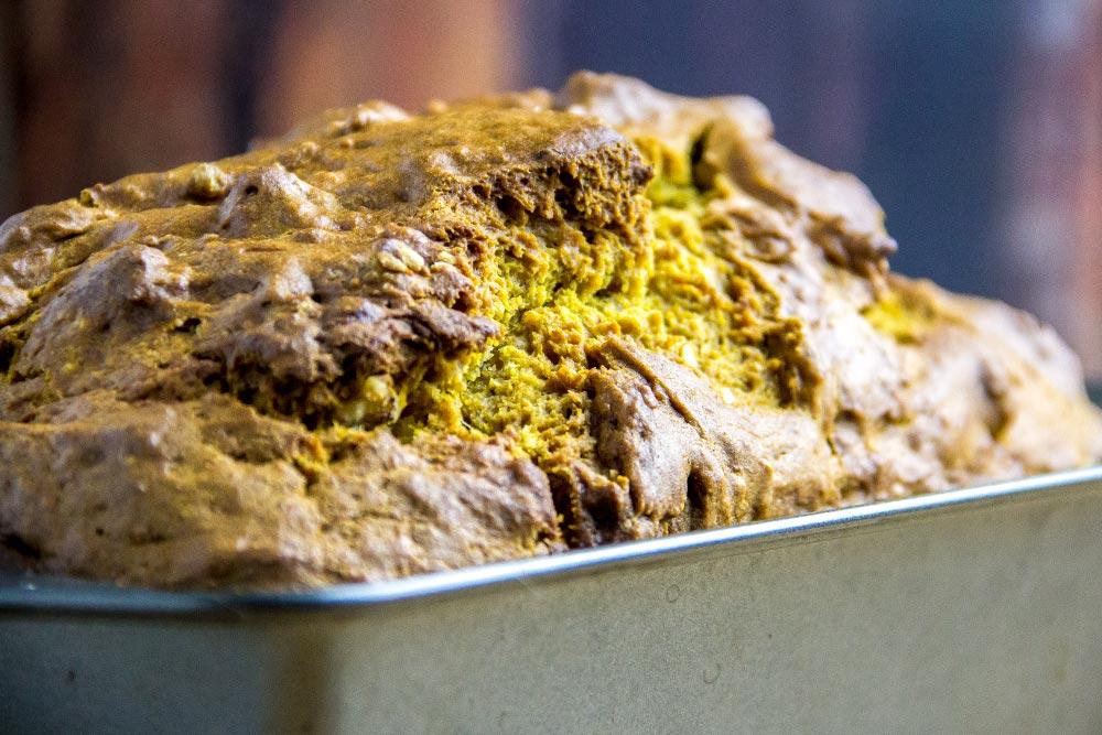 Pumpkin Bread Recipe Up-Close
