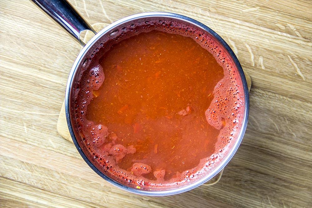 Tomato Sauce in Saucepan