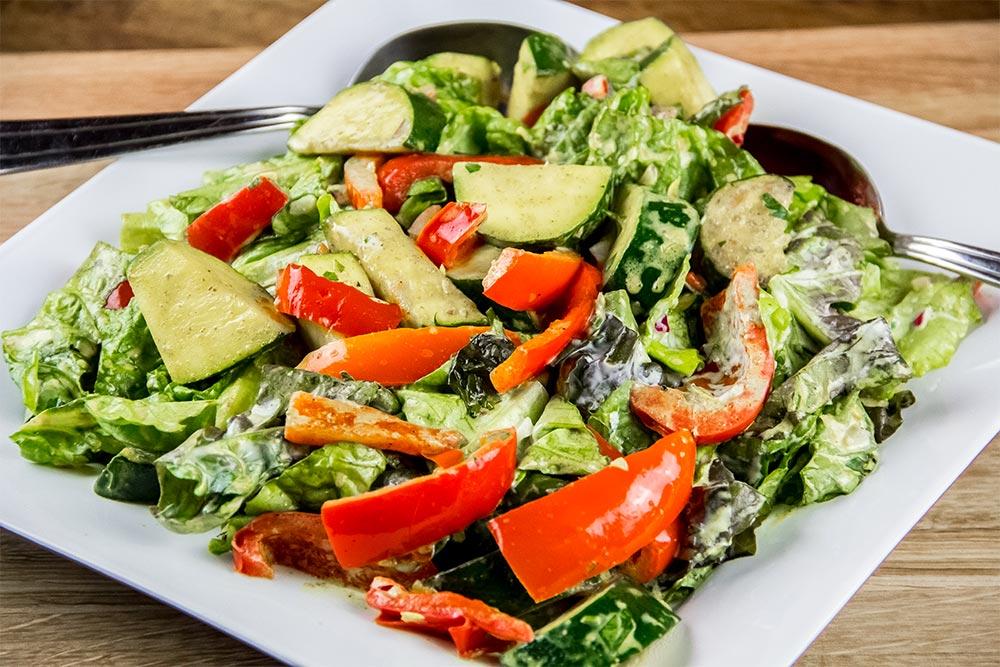Warm Vegetable Salad with Curry-Yogurt Vinaigrette Recipe