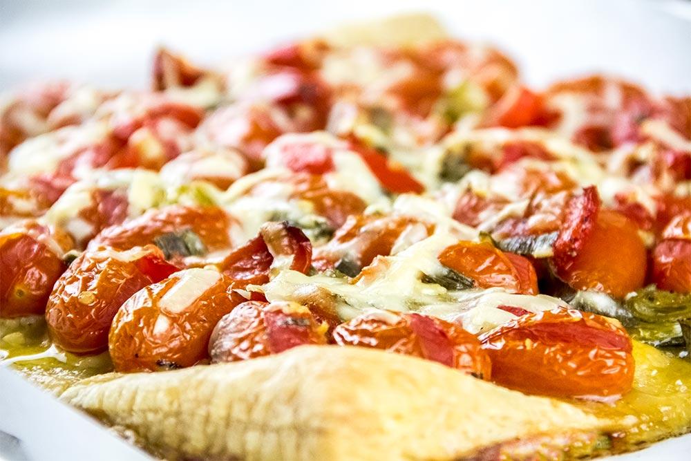 Roasted Tomato & Garlic Tart Recipe