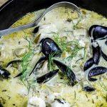 Seafood Stew with Cream, Fennel & Garlic Recipe