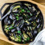 Curry Coconut & Garlic Mussels Recipe by MyRecipes