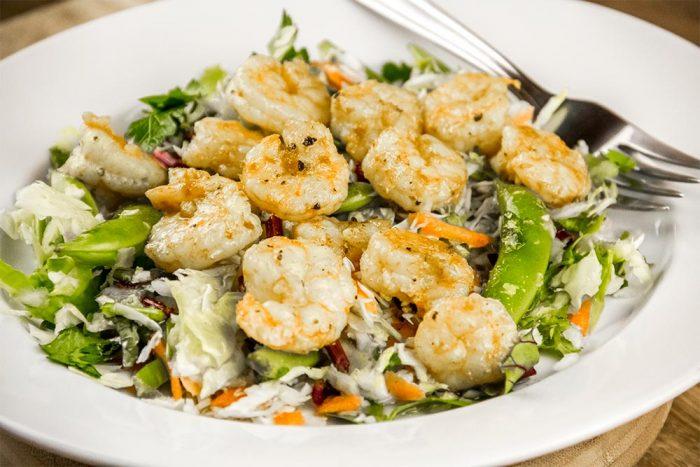 Shrimp & Vegetable Salad with Lemon Honey Vinaigrette Recipe