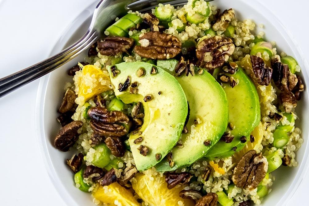 Avocado, Pecan and Ginger Salad
