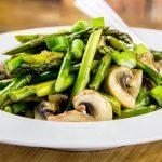 Stir-Fried Asparagus, Mushroom & Sweet Ginger Sauce Recipe