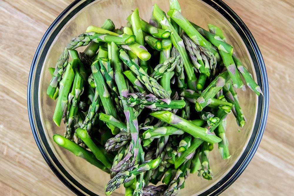 Trimmed Fresh Asparagus Pieces