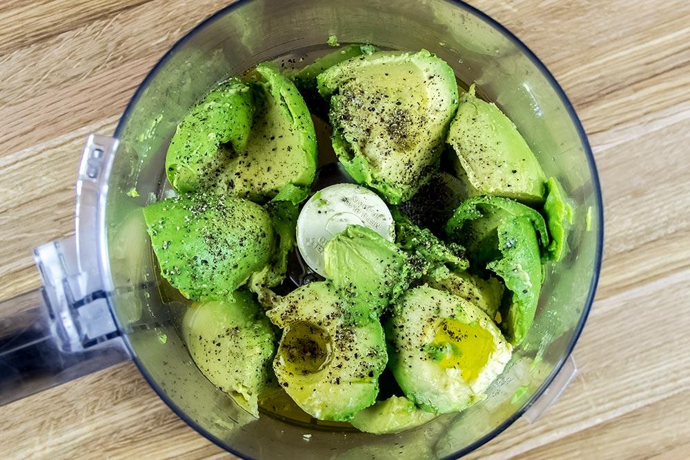Avocados in Food Processor