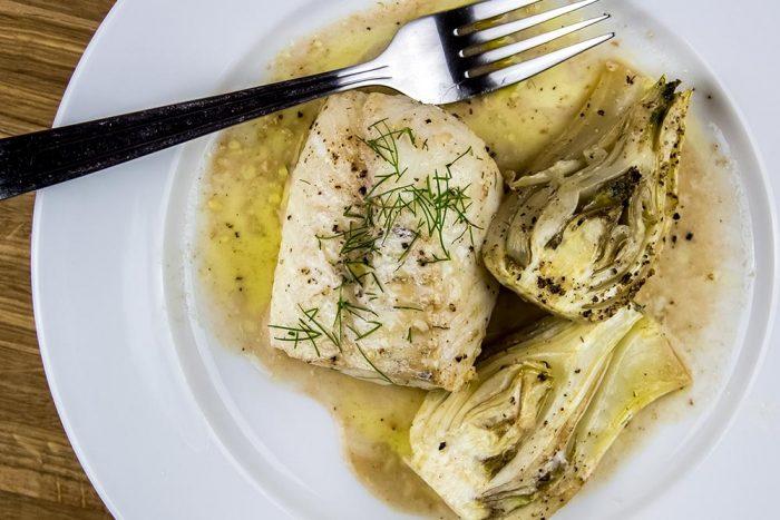 Roasted Cod with Fennel, Garlic & Sherry Recipe by Williams-Sonoma