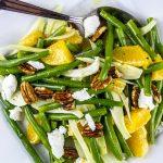 Green Bean, Orange & Fennel Salad with Pecans & Goat Cheese Recipe