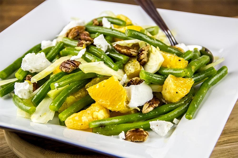 Green Bean, Orange and Goat Cheese Salad
