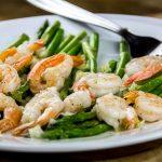 Oven Roasted Shrimp & Asparagus with Lemon Shallot Vinaigrette Recipe