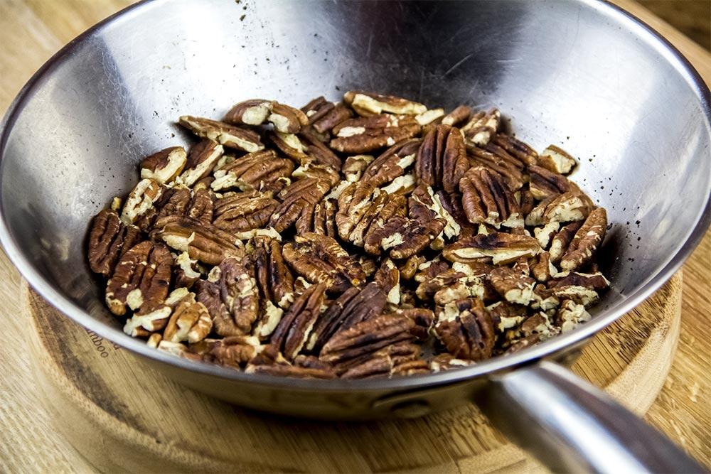 Toasting Pecans in Skillet