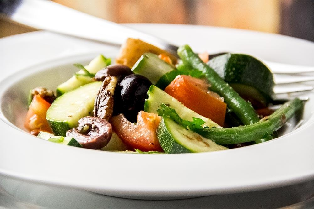 Green Bean, Red Potato & Zucchini Salad with Caesar Dressing Recipe