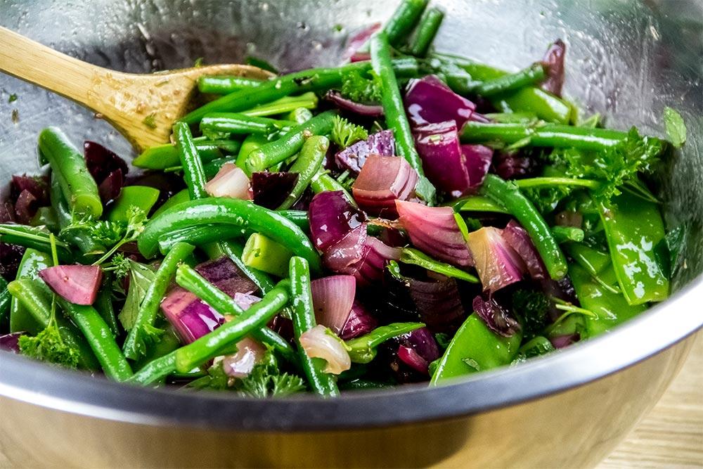 Roasted Red Onion & Green Bean Salad Recipe by Gordon Ramsay
