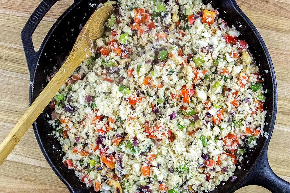 Cauliflower Mix in Skillet