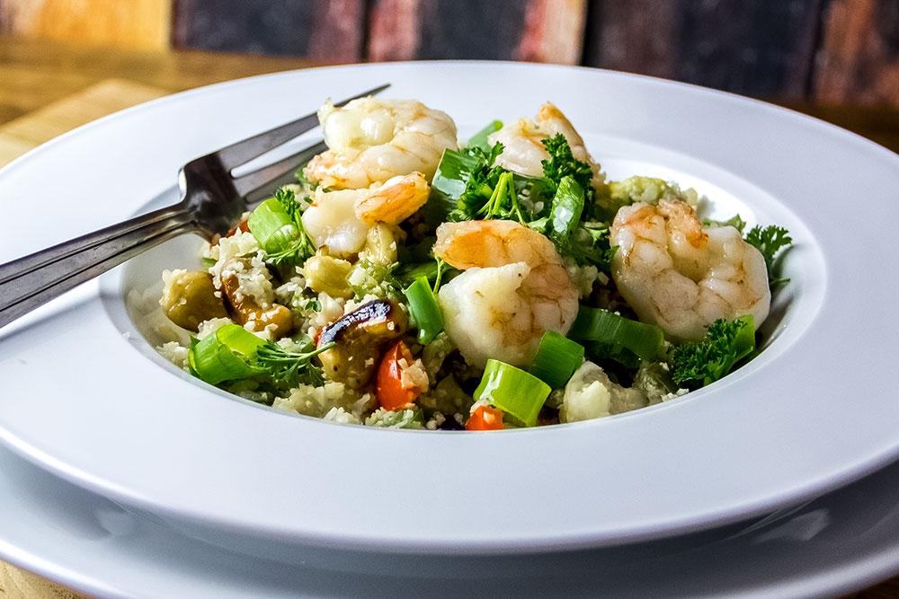 Fried Shrimp, Toasted Cashews & Cauliflower Recipe