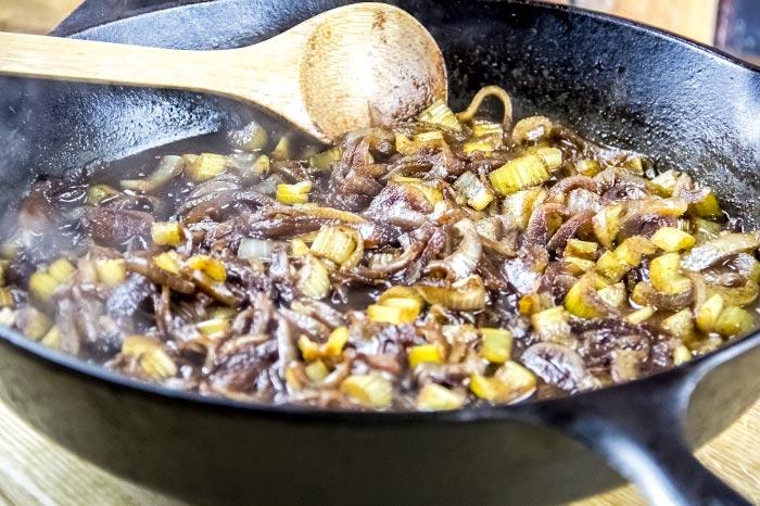 Reduced Veggie Broth and Balsamic Vinegar
