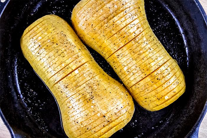 Sliced Hasselback Butternut Squash