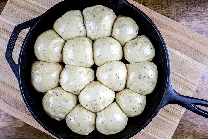 Risen Dough Balls
