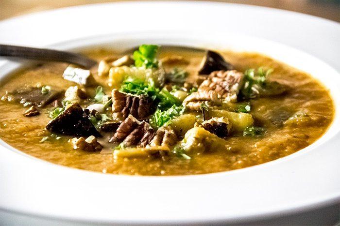 Roasted Eggplant & Tomato Soup Recipe
