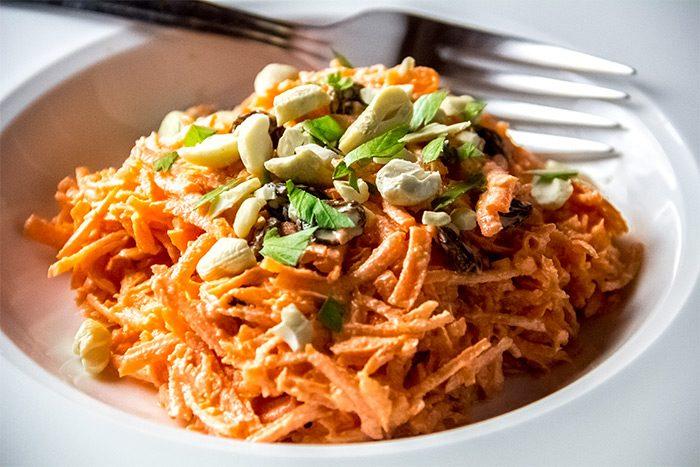 Sweet Carrot & Raisin Salad with Orange Citrus Dressing Recipe