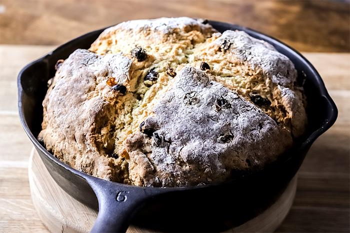 Irish Soda Bread in Cast Iron Skillet