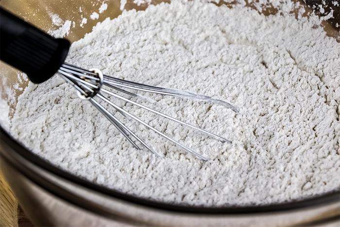 Whisking Flour
