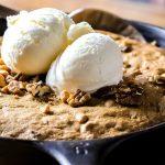 Bourbon, Butterscotch & Pecan Skillet Cookie Recipe