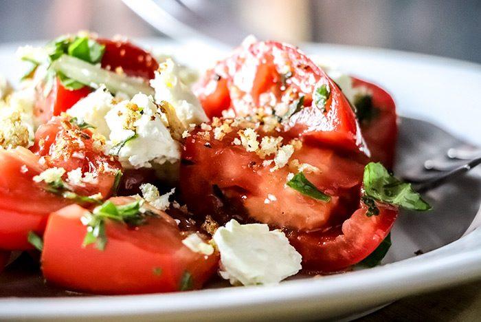 Tomato, Basil, Feta & Pangrattato Salad Recipe