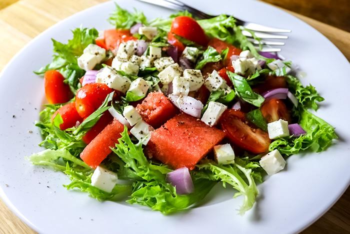 Basil, Watermelon & Feta Salad