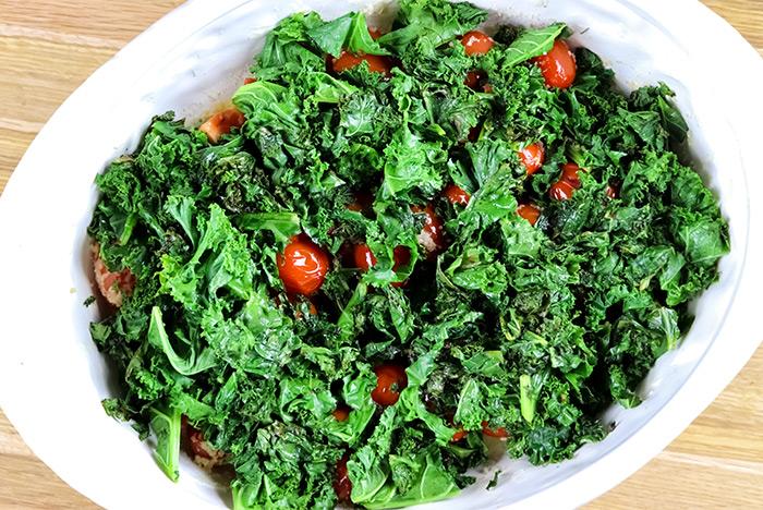 Kale & Tomatoes in Casserole