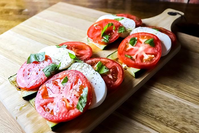 Caprese Salad with Fresh Garden Zucchini Recipe